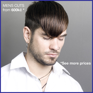 Mens haircut from 300kč to 1590kč. Price includes shampoo, conditioner and normal styling.